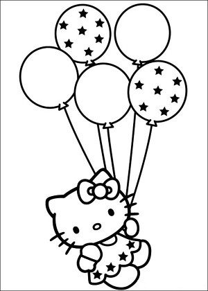 Free Hello Kitty Coloring Page